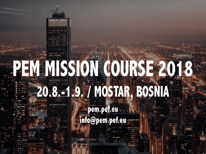 PEM Mission Course 2018 In Bosnia